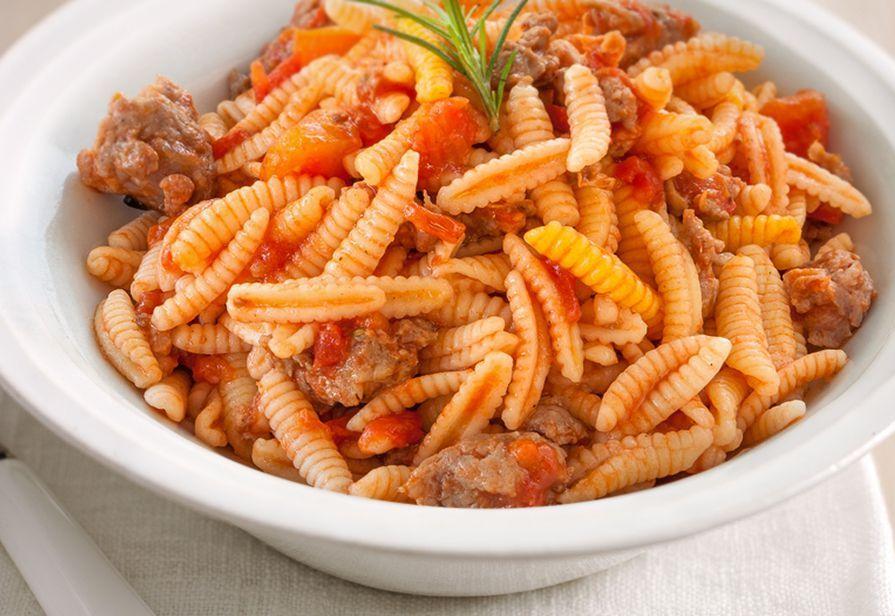 malloreddus pasta with ragu.
