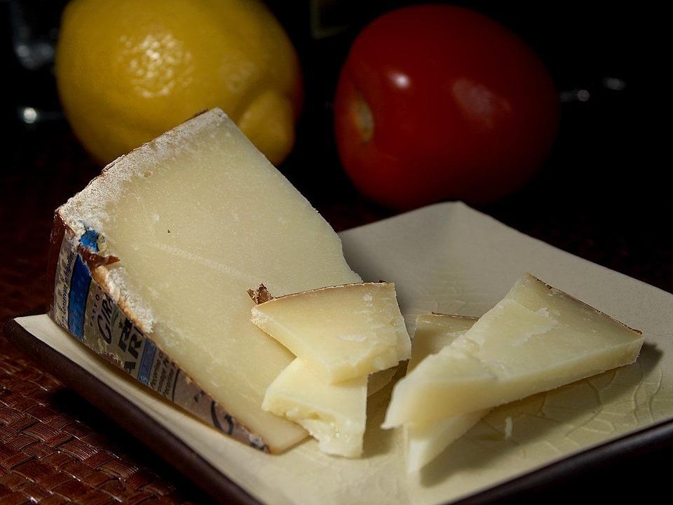 Pecorino cheese in Cagliari, Sardinia